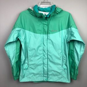 Marmot Rain Jacket Green Kids Large